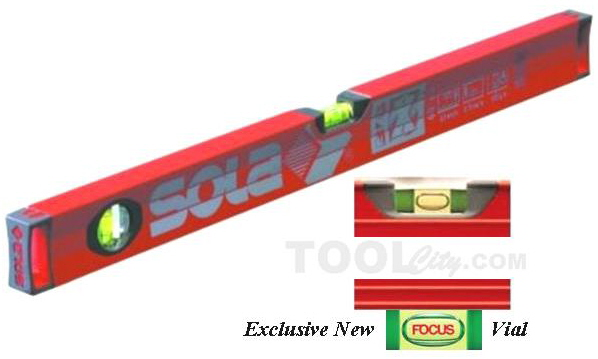 """Sola Level Sola Big X 48"""" Professional Aluminum Box Level with Contoured Grip And New Easy To Read """"Focus"""" Vile - BX48 at Sears.com"""